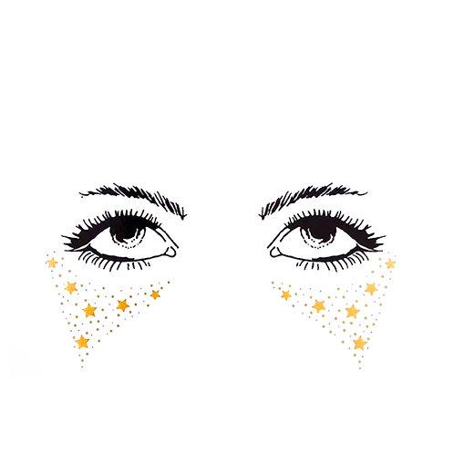TEARS OF STARS - Tatuagem Temporária