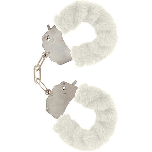 WHITE FURRY FUN CUFFS - ALGEMAS