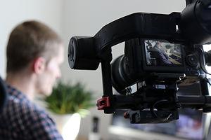Canva - Black Video Camera Turn on Next