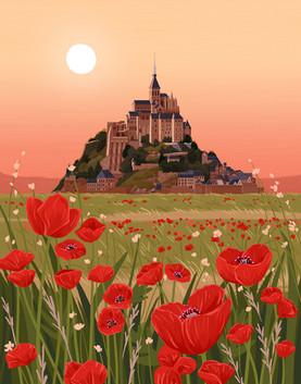 Mont-Saint-Michel Garden Poppy