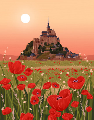 Mont-Saint-Michel Garden Poppy