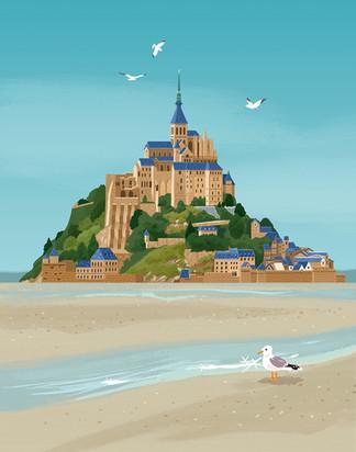 Mont-Saint-Michel Seagull