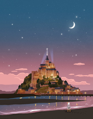 Mont-Saint-Michel Night