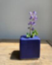 Vase, pottery, blue
