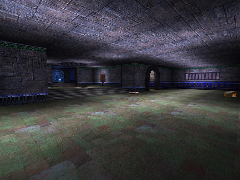 Blue shotgun corridor