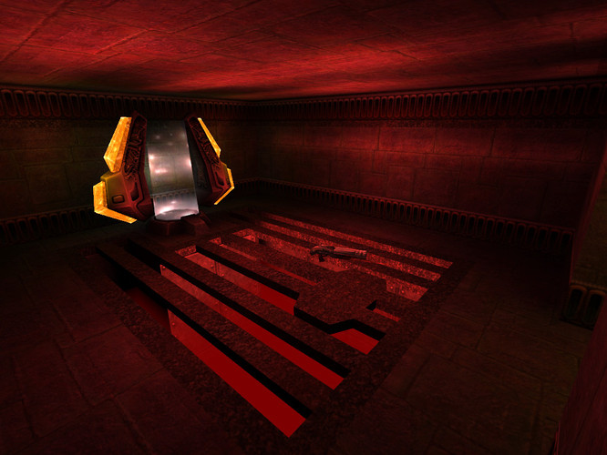 One of the two teleporter rooms
