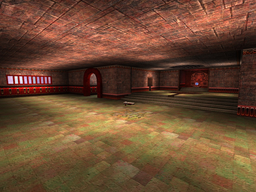 Red shotgun corridor