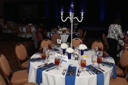 table set up at gala