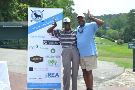 picture with guests and sponsors at golf tournament