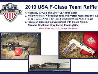 USA F-Class launches 2019 Fundraising effort with tremendous Prize list