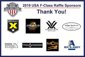 USA F-Class 2019 Raffle Sponsors