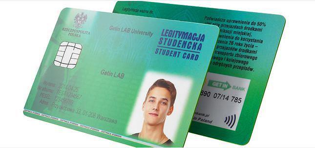 Legitymacja - студентський квиток