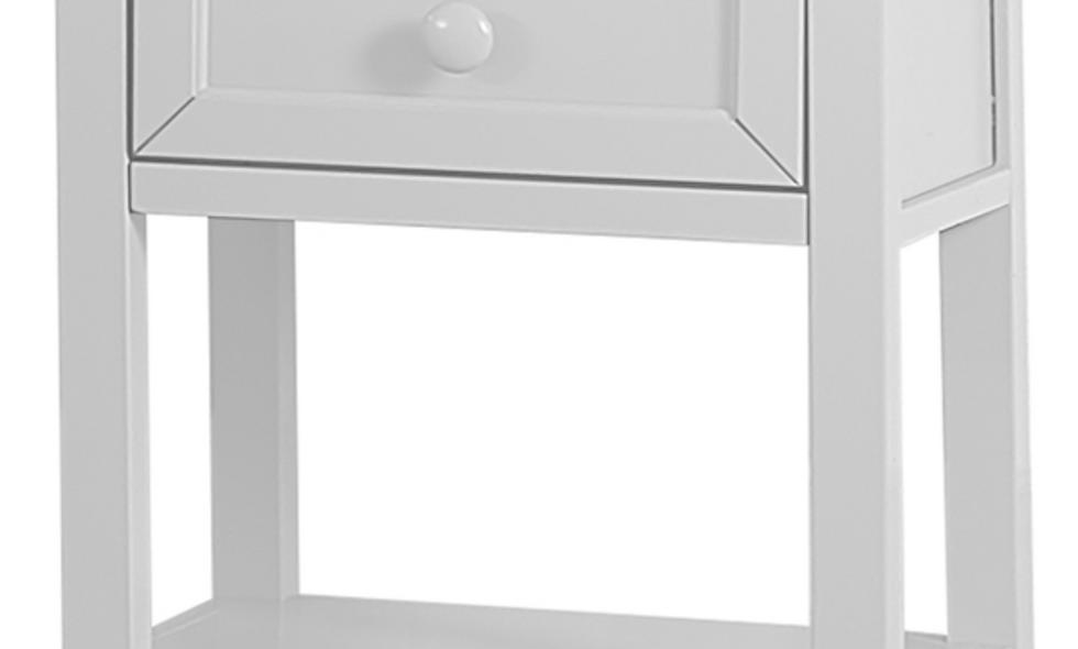 School House 3 Drawer Nightstand - White