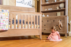 Cameo Oval Convertible Crib Shown in Toast