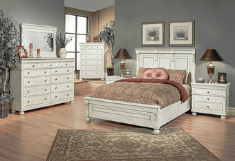San Jose Bedroom Collection in Rustic White