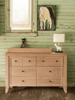 Cameo 6 Drawer Double Dresser Shown in Toast