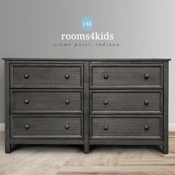 Summerlin 6 Drawer Dresser - Weathered Grey
