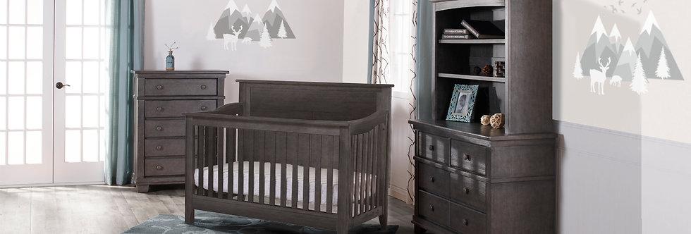 Special: Potenza Crib+ Dresser Combo in Distressed Granite
