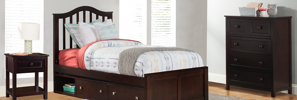 School House Finlay Twin Bed - Chocolate
