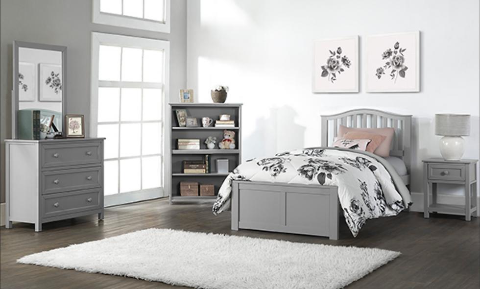 School House Finlay Twin Bed - Grey