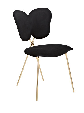 The Black Butterfly Back Chair