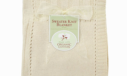 Sweater Knit Blanket Made with Organic Cotton