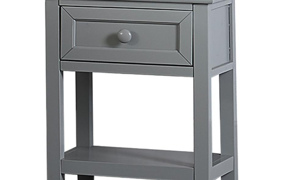 School House 3 Drawer Nightstand - Grey