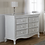 Thumbnail: Pali Diamante Collection Double Dresser in Vintage White