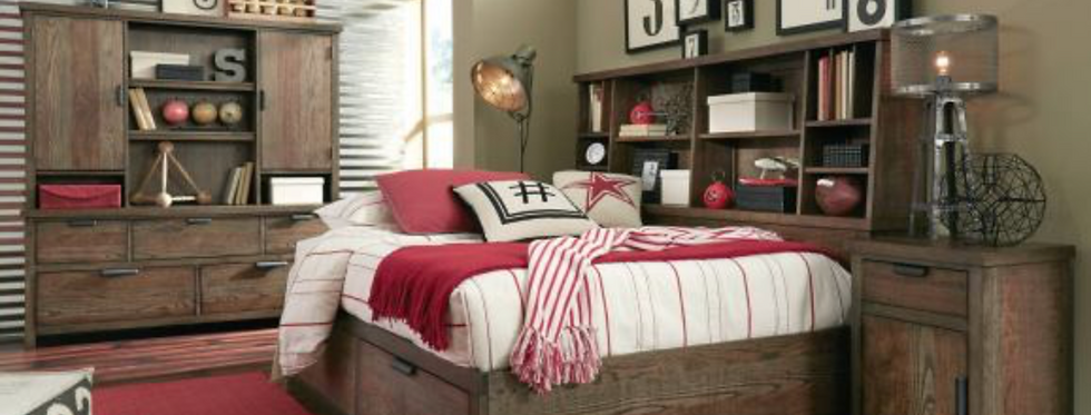 Fulton County Bookcase Lounge Bed (complete w under-bed storage)