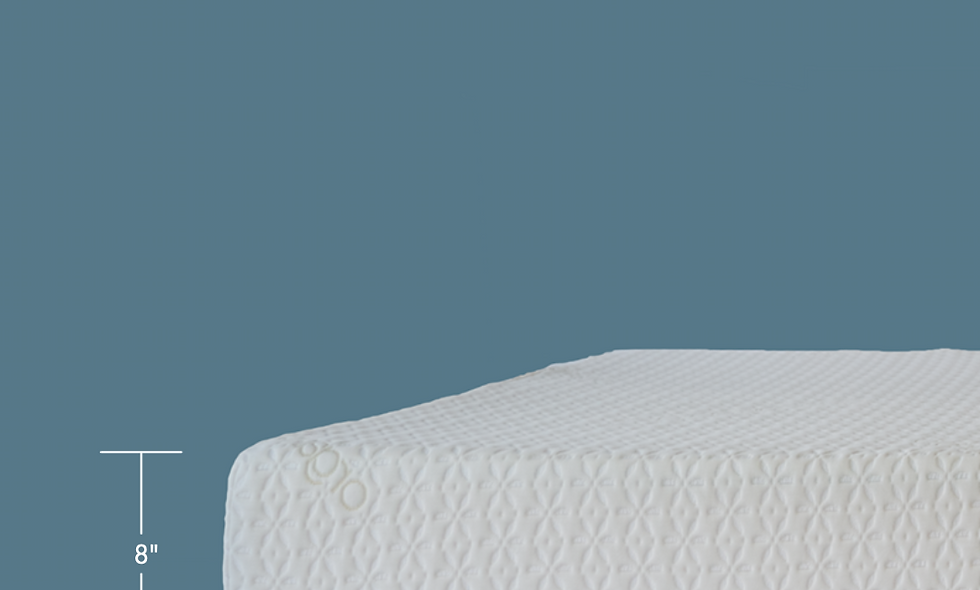 "8"" Gel Memory Foam Mattress Organic Cover"