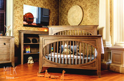 The Cameo Oval 4-in-1 Convertible Crib - by: Milk Street