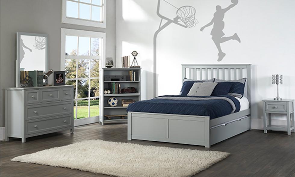 School House Marley Full Bed - Grey