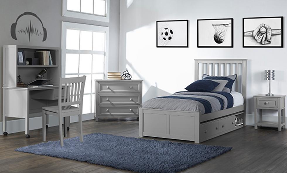 School House Marley Twin Bed -Grey