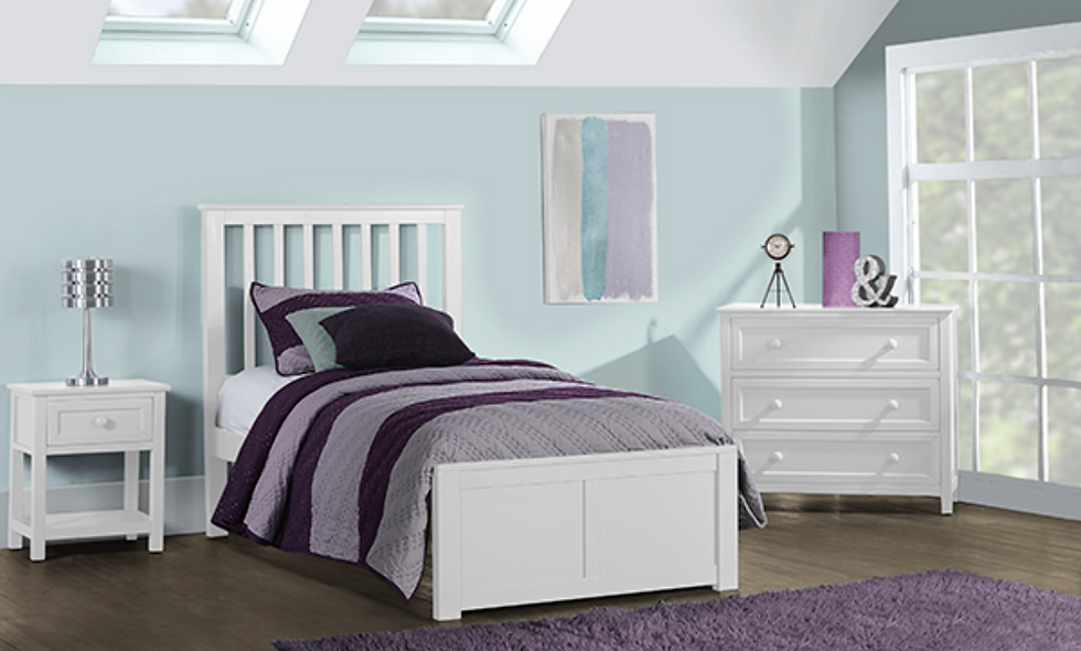 School House Marley Twin Bed - White