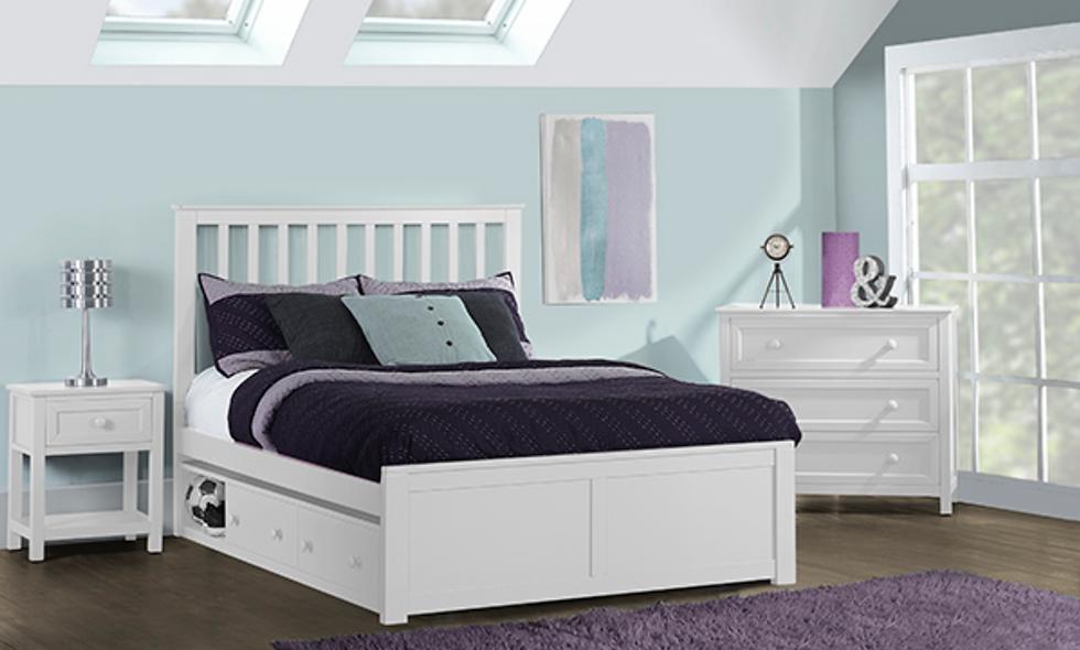 School House Marley Full Bed - White
