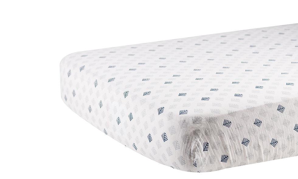 Glacier Branch Cotton Muslin Crib Sheet