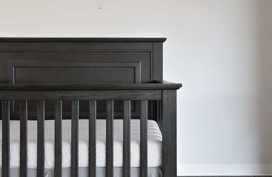 Waterford Straight Panel Crib | Weathered Grey