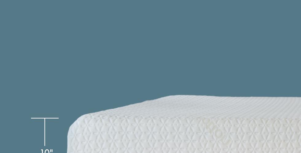 "10"" Gel Memory Foam Mattress Organic Cover"