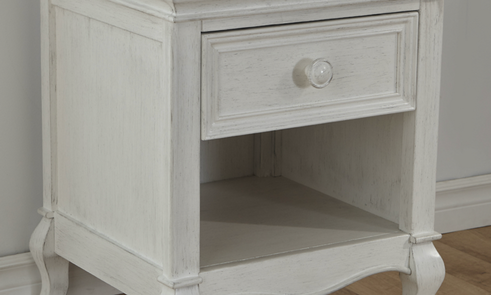 Pali Diamante Collection Nightstand in Vintage White