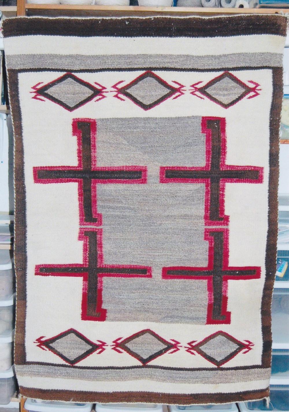 navajo indian rug sun fading b