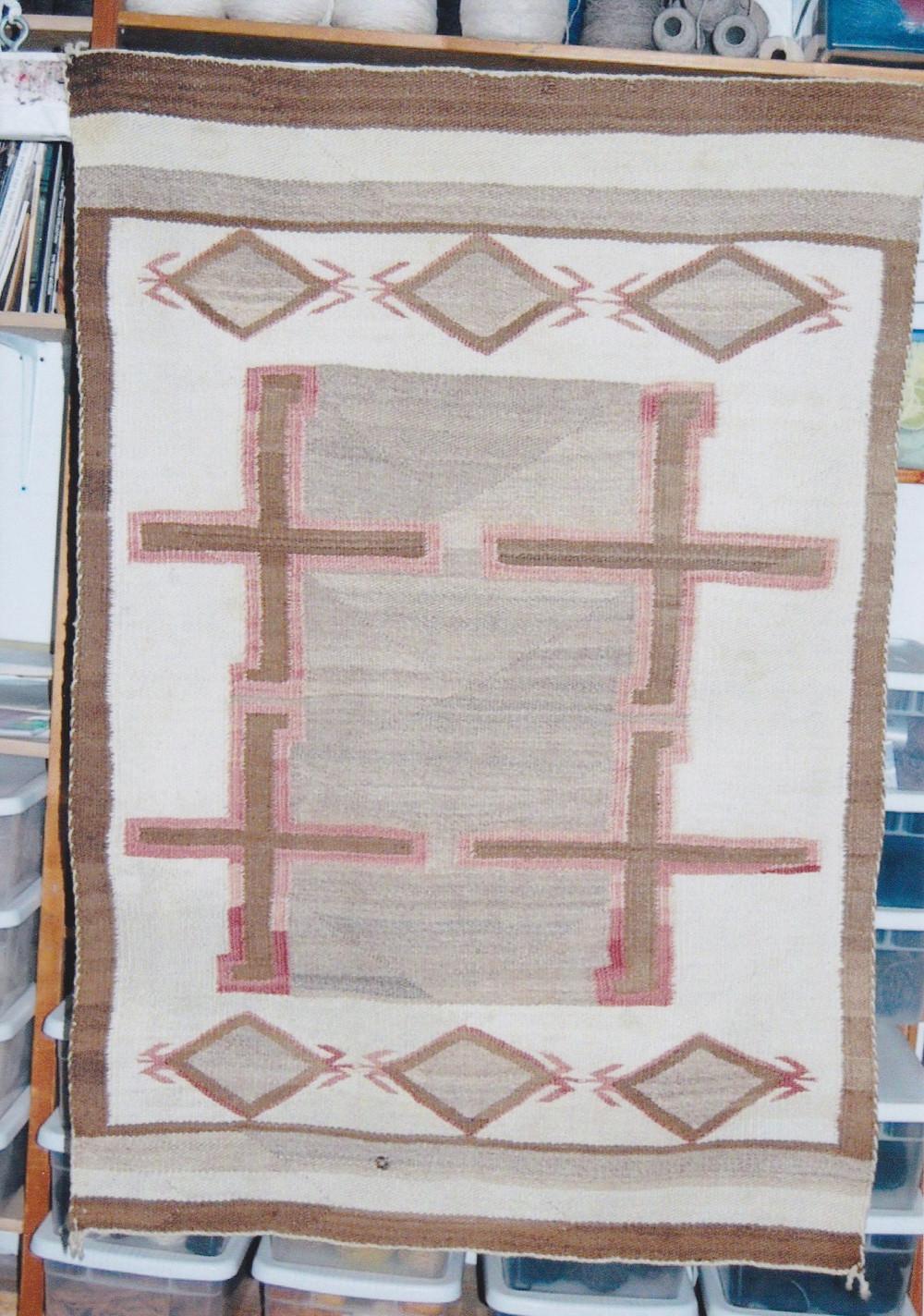 navajo indian rug sun fading a