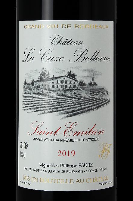 1 Bouteille 75 Cl - Château La Caze Bellevue 2019