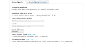 MOM Employment Agency Search