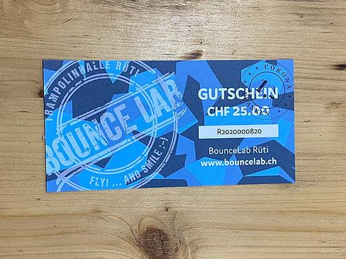 BounceLab  Gutschein à CHF 26.-