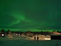 Noorderlicht in Lapland tijdens de groep