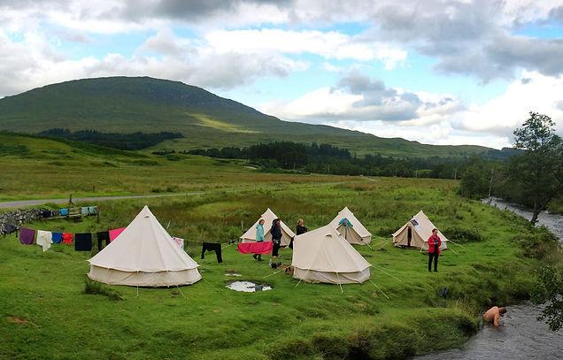 Tipi's in Schotland West Highland Way FB