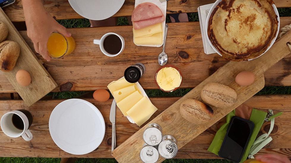 Ontbijt bij wandelvakantie weerribben FB