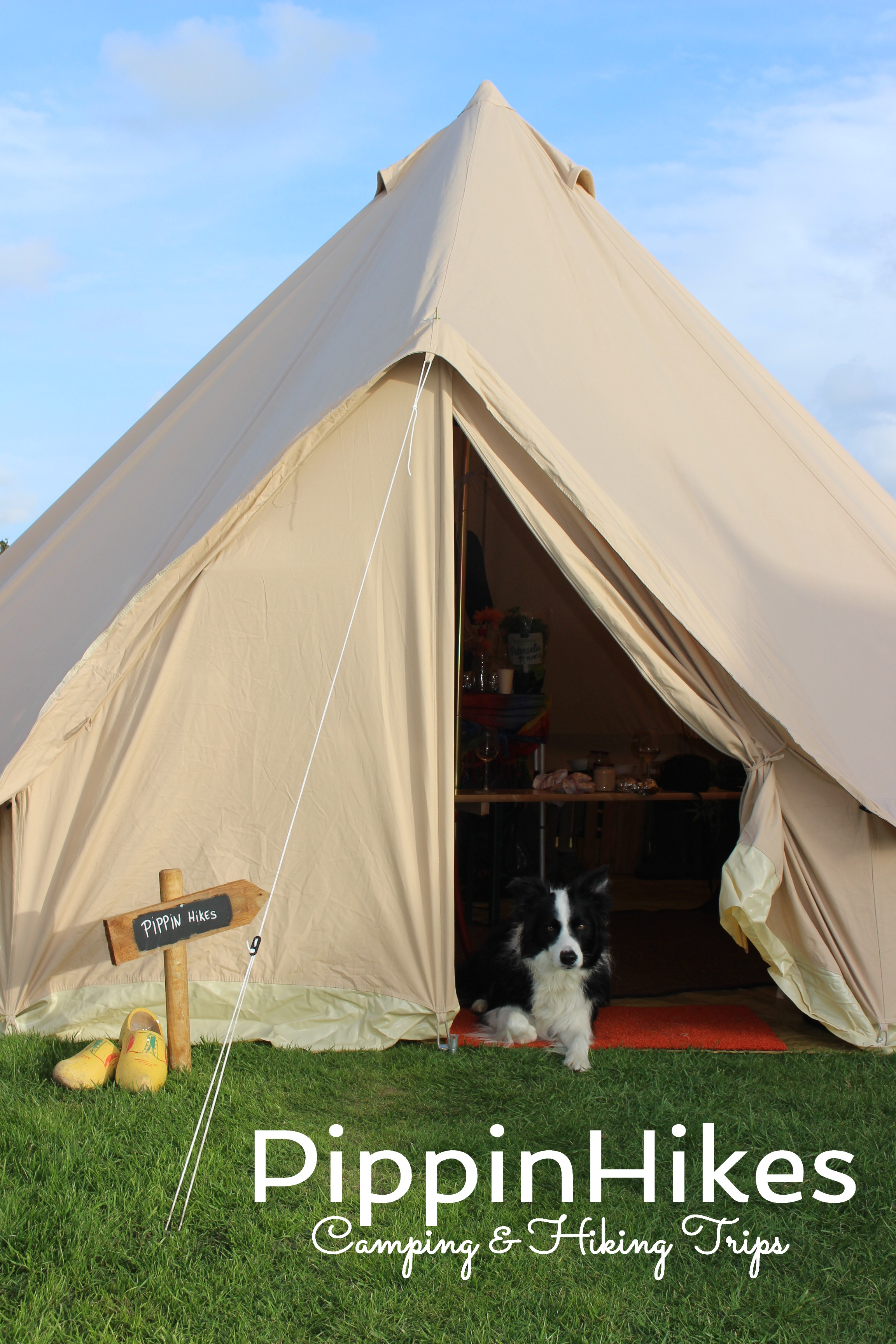 Smorrie in Bell tent