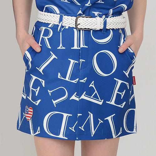 総柄ロゴモノトーンスカート