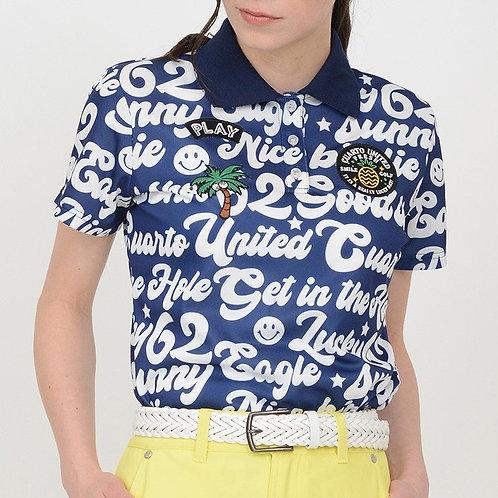 サイケロゴ総柄ポロシャツ